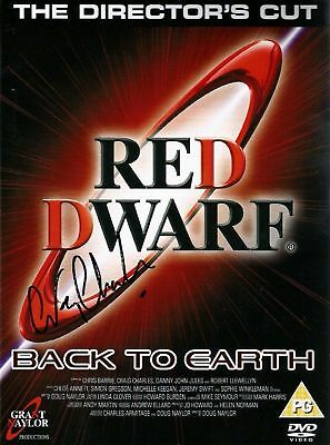 Red Dwarf Back to Earth DVD Signed in person by Lister / Craig Charles