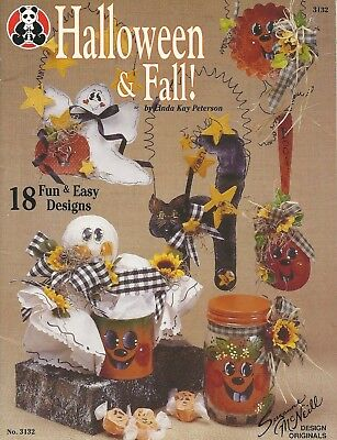 Halloween & Fall! by Linda Kay Peterson 18 Designs - Acrylic Paint Projects 1995 - Halloween Paint Projects
