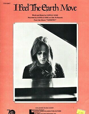 CAROLE KING I FEEL THE EARTH MOVE SHEET MUSIC PIANO/VOCAL/GUITAR/CHORDS 1971 NEW