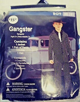 GANGSTER HALLOWEEN COSTUME BOY MED (8) JACKET / PANTS / DICKIE / HAT FREE SHIP