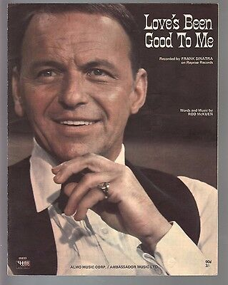 Love's Been Good To Me 1963 Frank Sinatra Sheet Music