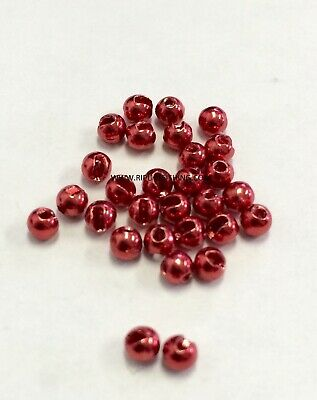 "Brass fly tying Beads anodisé marron 2.5 MM 3//32/"" 200 Count"
