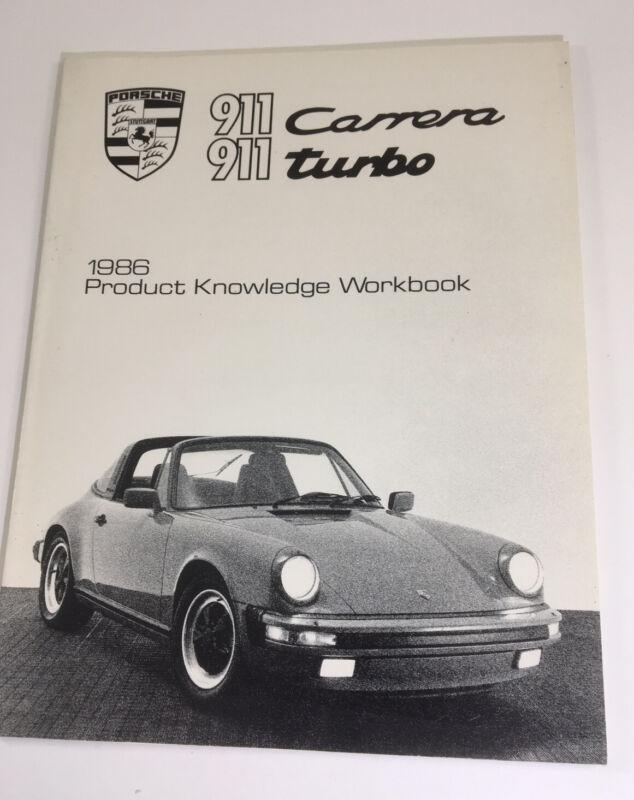 1986 Porsche Product Knowledge Workbook 911 Carrera & 911 Turbo ,Manual, Booklet