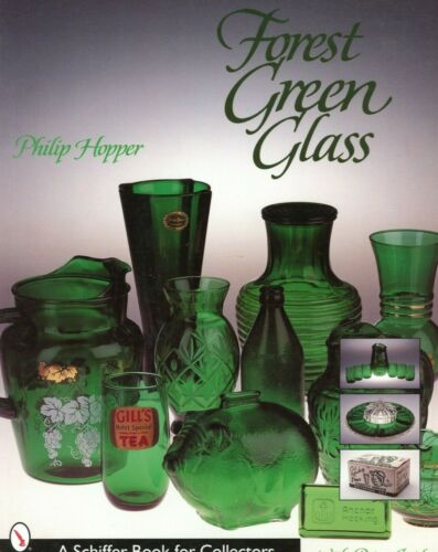 Vintage Anchor Hocking 1950s-1960s Forest Green Glass - Types Values / Book