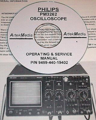 Philips Pm3262 Oscilloscope Technical Operating Service Manual