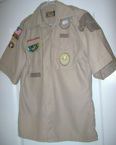 Current Style Official Boy Scout Shirt Polyester Microfiber Youth Sz L 14-16 LG