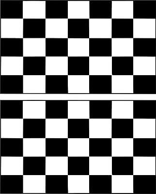 Set 2x sticker decal vinyl car bike laptop macbook bumber race checkered flag ()
