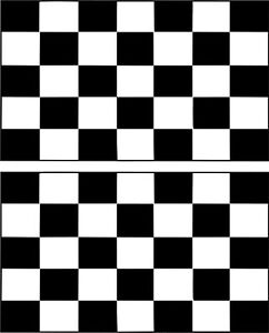 Set 2x sticker decal vinyl car bike laptop macbook bumber race checkered flag