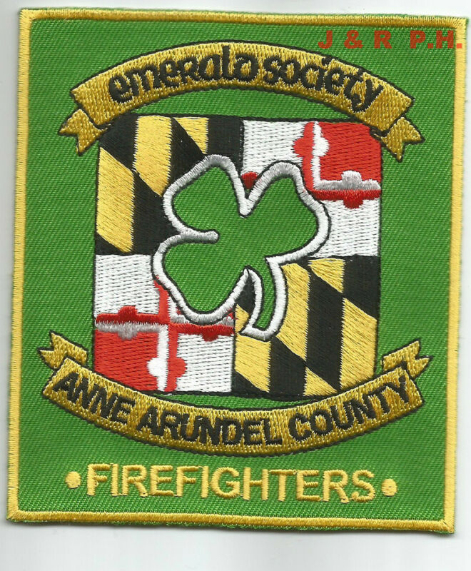 """Anne Arundel County - Emerald Society, Maryland  (3.5"""" x 4"""" size) fire patch"""