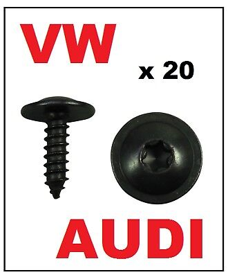 20 x VW AUDI ENGINE COVER UNDERTRAY SPLASHGUARD WHEEL ARCH TORX SCREW
