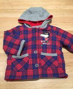 Fleece-lined Jacket / Hoodie - 12 Months