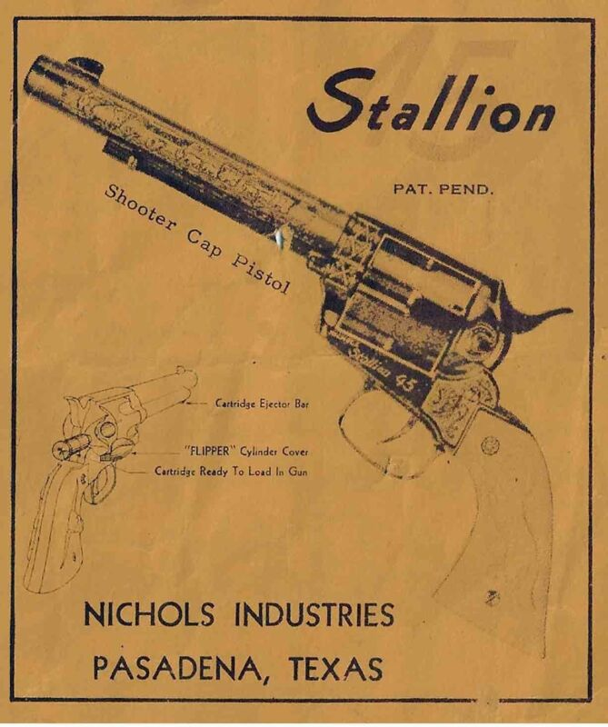 Nichols Stallion .45 Cap Gun Manual
