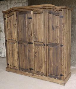 kleiderschrank pinie ebay. Black Bedroom Furniture Sets. Home Design Ideas