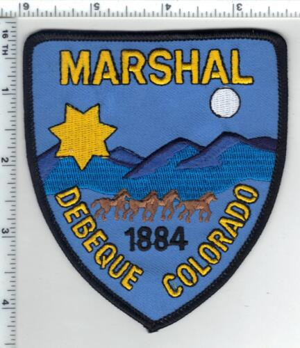 Debeque Marshal (Colorado) Shoulder Patch from the 1980s