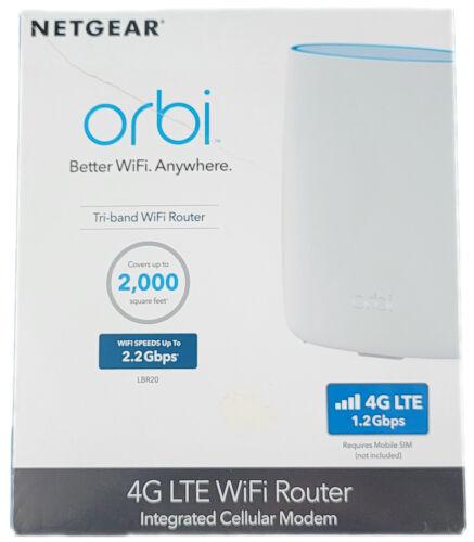 Netgear Orbi 4G LTE Wi-Fi Router Modem - LBR20-1USNAS