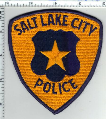 Salt Lake City Police (Utah) Ribbed Background Shoulder Patch from the 1980