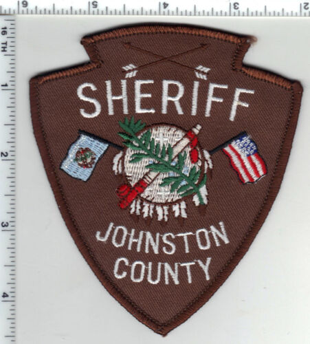 Johnston County Sheriff (Oklahoma) Shoulder Patch from the 1980