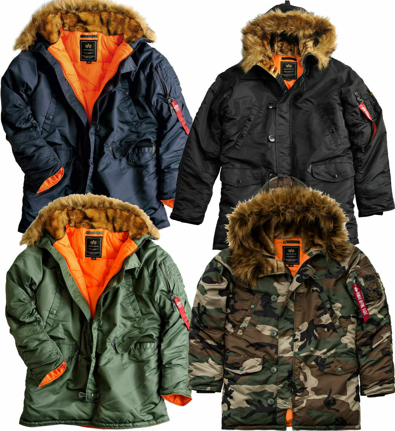 Alpha Industries N3B VF59 Herren Winter Jacke Parka Mantel Winterjacke 103141