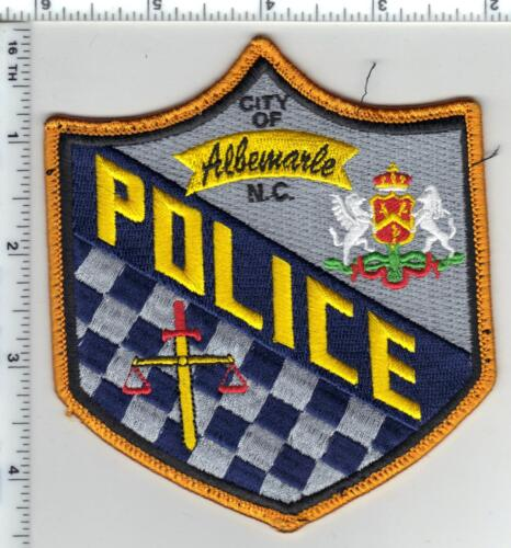 City of Albemarle Police (North Carolina) 4th Issue Uniform Take-Off Patch