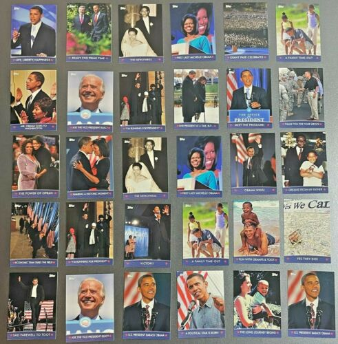 100+ Cards - 2008 Topps Inaugural Edition President OBAMA Collector Trading Card