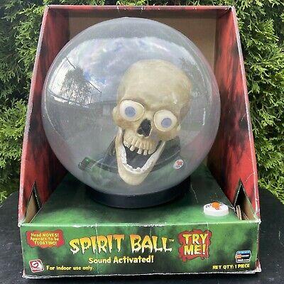 "Animated 9"" Talking Skull w/ Eyes Spirit Ball (Mini) NEW - Gemmy Halloween 2007"