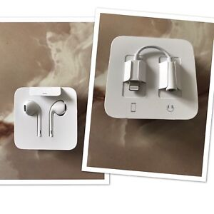 iPhone earbuds with lightning adapter. New,never used.