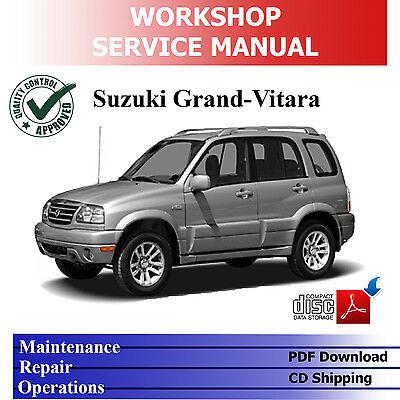 SUZUKI GRAND VITARA SQ/JA 1998-'05 1.6/2.0/2.5L WORKSHOP SERVICE PDF MANUAL