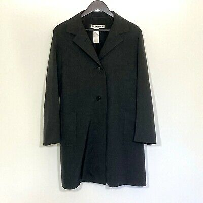 Jil Sander Long Over Jacket Black Size 40 10 US