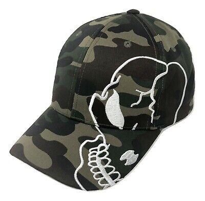 Camo Black Skull Skateboard Biker Skeleton Motorcycle Punisher Baseball Cap Hat (Skeleton Hat)