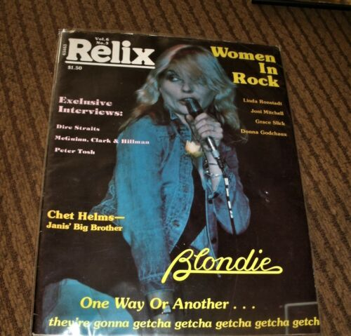 Blondie 1978 very rare Relix magazine, full color cover &4 page article & photos