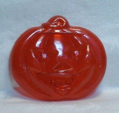 Aunt Chicks Vintage Red Plastic Cookie Cutter - Jack-o-Lantern Pumpkin Halloween