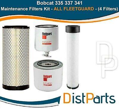 Bobcat 335 337 341 Filter Service Kit All Fleetguard