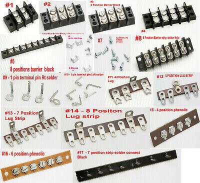 Vintage Electronic Terminal Block Strip Lug Dinkle Phenolic Flush Beau Parts