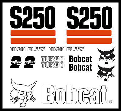 Decal Kit For Bobcat Skidsteer S250 Track Loader Decals Stickers Pre 03