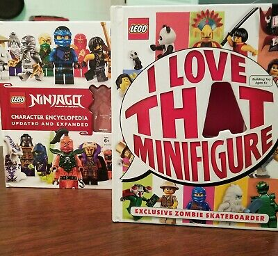 LEGO NINJAGO Character Encyclopedia Updated Edition & I love that Minifigure Set