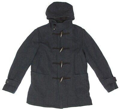 JIL SANDER UNIQLO +J Toggle Pea Coat Gray Hooded Jacket Womens size Small