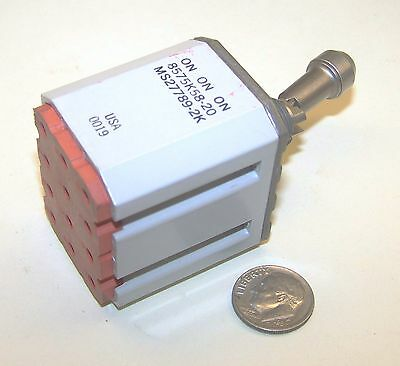 Cutler Hammer Eaton 8575k58-20 Ms27789-2k Nos Pull Spring Lock Toggle Switch