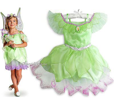 TINKER BELL Fairy Girls COSTUME DRESS GLITTER Underskirt DISNEY STORE SZ 4 - Tinker Girls