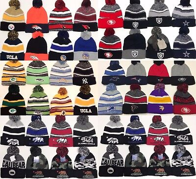 Beanie POM POM Logo Sport Football SKI Cap KNIT Hat Winter Wear ALL TEAM ONE SZ ()