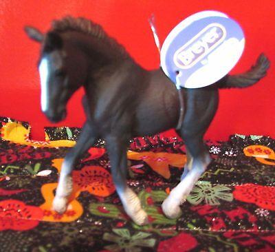 Adorable Black Shire Percheron Draft Horse Foal Breyer by Collecta NEW!