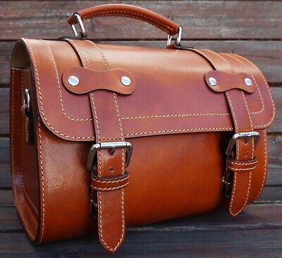 Small Leather Top Case Front Rack Roll Bag Vespa Primavera LX 946 GTS GTV, Tan