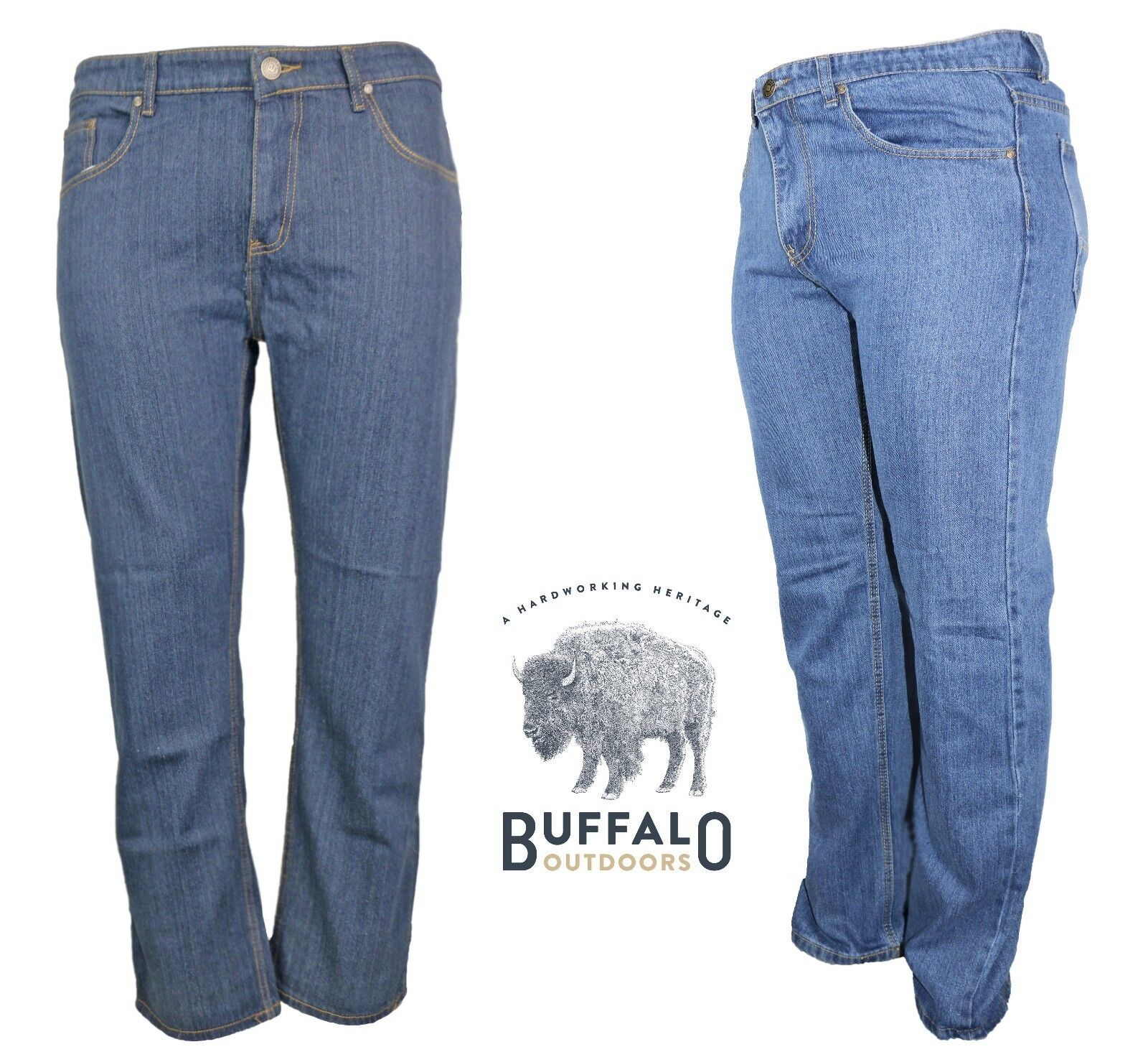 Buffalo Outdoors® Men's Relaxed Fit Work Denim 2017
