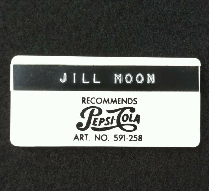 Vintage Pepsi Employee Name Tag Badge Memorabilia Advertising Soda Pinback