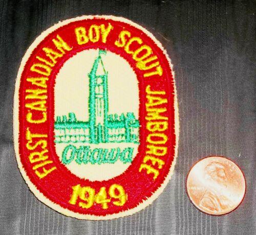 BSA BSC BOY SCOUT 1949 FIRST CANADIAN JAMBOREE OTTOWA CONTINGENT REISSUE PATCH