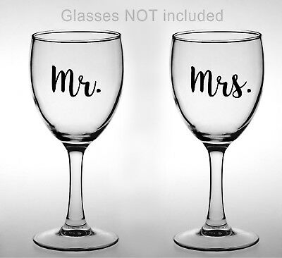 Mr and Mrs Vinyl Decals, 2pc set, Bridal, wedding, shower gift, gifts for her (Wedding Decals)