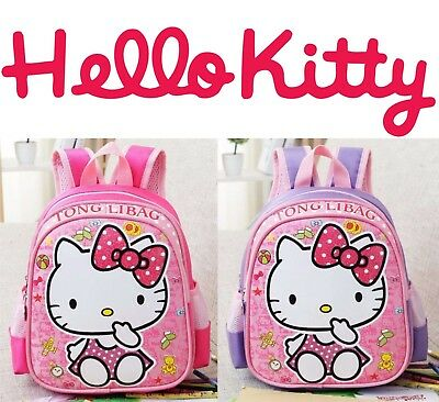 NEW Hello Kitty Backpack For Girls / Baby Cute School Cartoon Bag Kindergarden (Hello Kitty Backpacks For Girls)