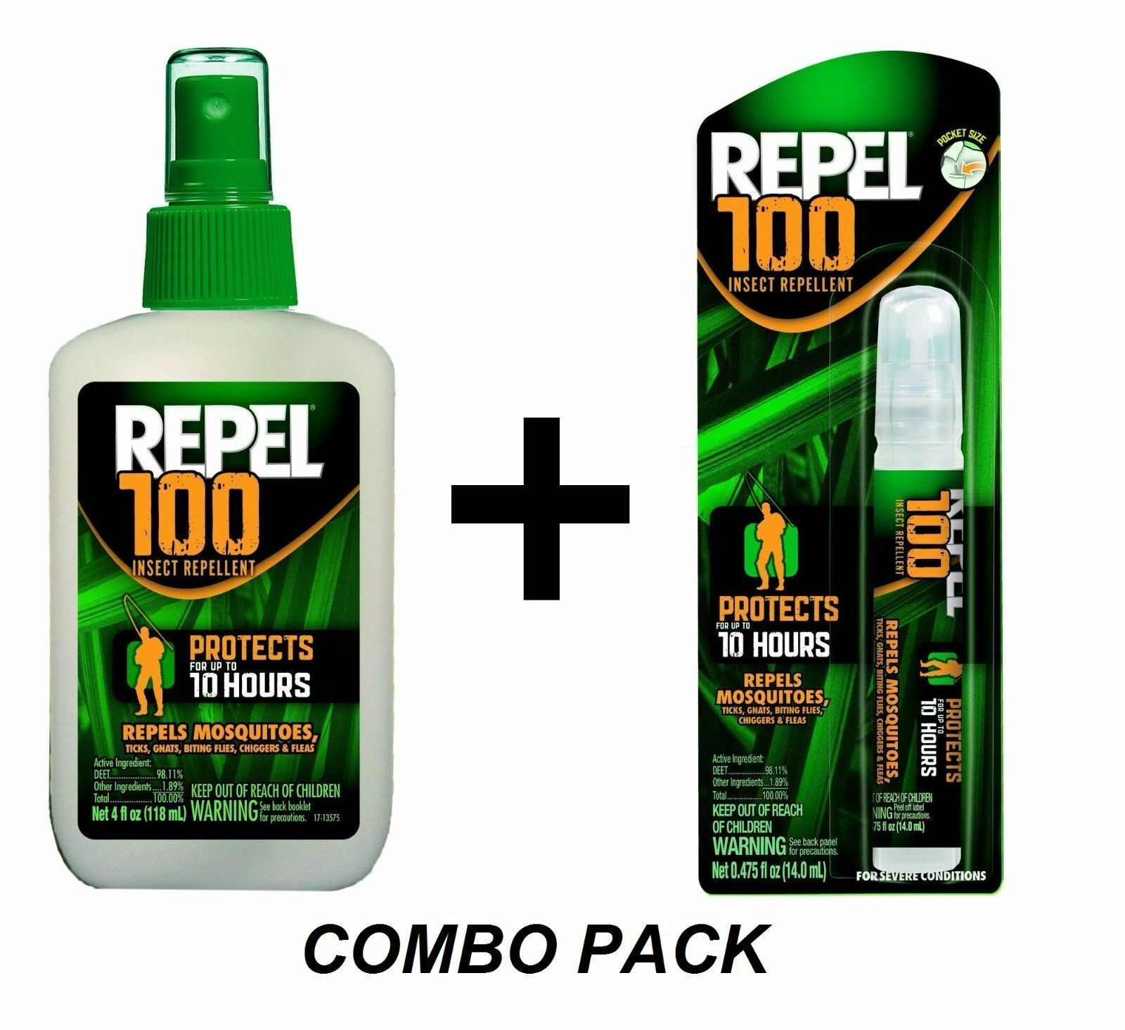 Repel 100 Insect Mosquito Repellent COMBO PACK Sprays 98% DE
