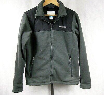Columbia Bugaboo Size M Black Gray Interchange Fleece Jacket Bugaboo Gray Fleece