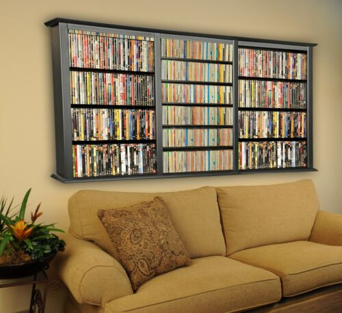 Wall Mount CD DVD Rack 1026 CD 480 DVD Storage Rack - NEW