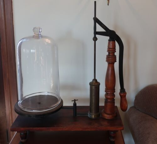 Vacuum Pump with Bell Jar Central Scientific Co. Antique Vintage